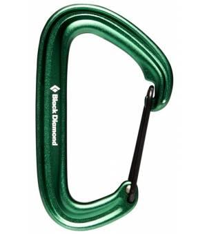 Black Diamond LiteWire Carabiner Green karabína
