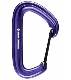 Black Diamond LiteWire Carabiner purple karabína