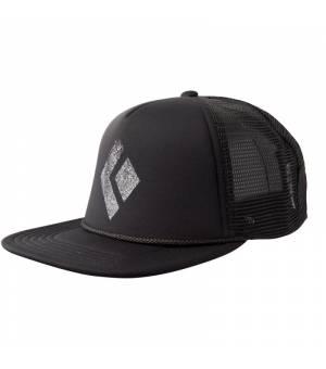 Black Diamond Flat Bill Trucker Hat Black šiltovka