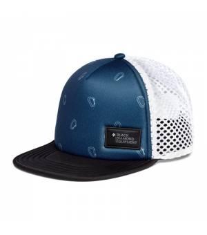 Black Diamond Hideway Trucker Hat ink blue/biner print šiltovka