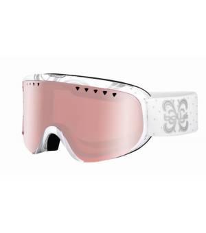 Bolle Scarlett Shiny White Night Vermillon lyžiarske okuliare