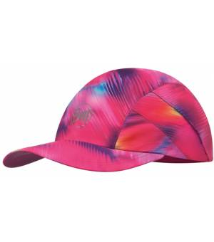 Buff Pro Run Cap Patterned Šiltovka R-Shining Pink Ružová