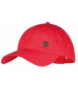 Buff Baseball Cap Šiltovka Solid Red Červená