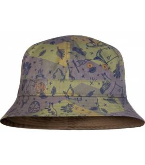 Buff Bucket Hat Kids Klobúk Camp Khaki Zelený