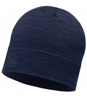 Buff Lightweight Merino Wool Hat Čiapka Solid Denim Modrá