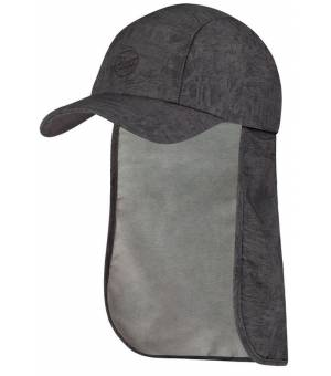 Buff Bimini Cap Kids Šiltovka Zinc Dark Grey Sivá