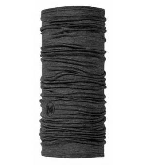 Buff Merino Lightweight Multifunctional Neckwear Solid Grey šatka