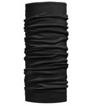 Buff Merino Lightweight Multifunctional Neckwear Solid Black šatka