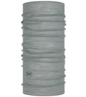 Buff Solid Grey Wool Lightweight šatka sivá