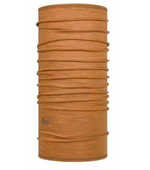 Buff Solid Mustard Wool Lightweight šatka hnedá