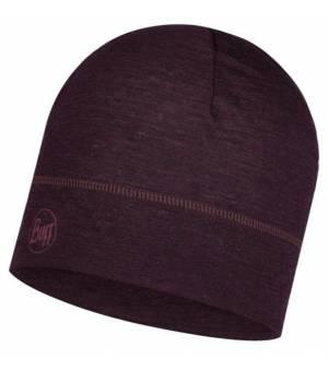 Buff Merino Wool Lightweight Deep Purple čiapka fialová