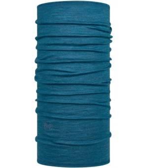BUFF Merino WOOL Lightweight Solid Dusty Blue ŠATKA