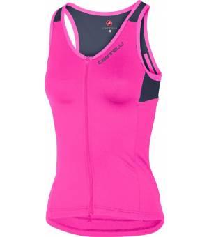 Castelli Solare Top W Pink Fluo/Dark Steel Blue tielko