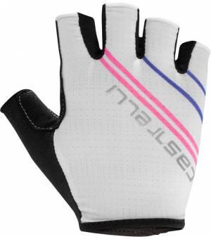 Castelli Dolcissima W Ivory/Pink Fluo cyklistické rukavice