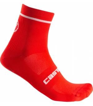 Castelli Entrata 9 M Red cyklistické ponožky