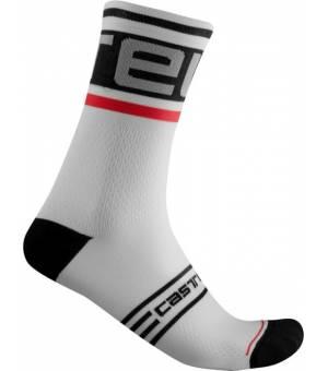 Castelli Prologo 15 M White cyklistické ponožky