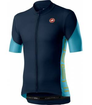 Castelli Entrata V Jersey M Savile Blue/Celeste/Saffron cyklodres