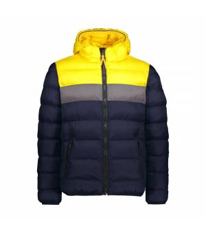 CMP Man Jacket Fix Hood Black Blue Honey Bunda