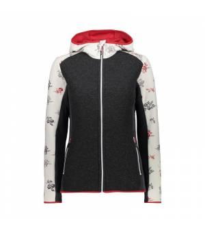 CMP Woman Jacket Fix Hood Gesso Blood Bunda