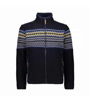 CMP Man Jacket Black Blue Mikina