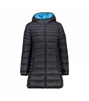 CMP Kid G Coat Fix Hood Antracite Kabát