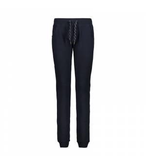 CMP Woman Long Pant Black Blue Tepláky
