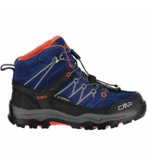 CMP Kids Rigel Mid Trekking Shoe WP Blue Marine Tango Obuv