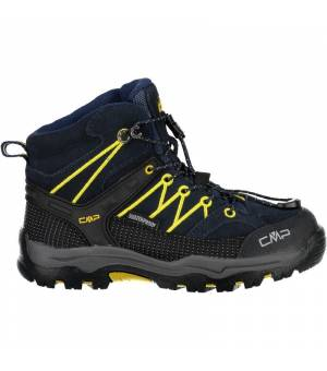 CMP Kids Rigel Mid Trekking Shoe WP Black Blue Zafferano Obuv