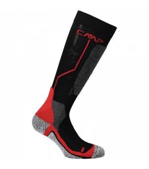 CMP Ski Sock Wool  Nero Ferrari Ponožky
