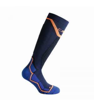 CMP Ski Sock Thermocool Black Blue Ponožky