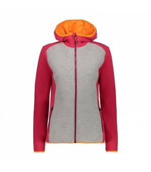 CMP Woman Jacket Fix Hood mikina C829 oranžová