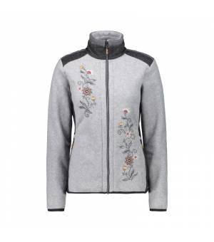 CMP Woman Jacket mikina U510 sivá