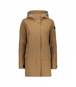 CMP Woman Long Jacket Fix Hood bunda P839 hnedá