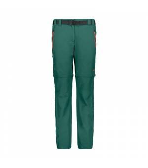 CMP Woman Pant Zip Off nohavice E813 zelené