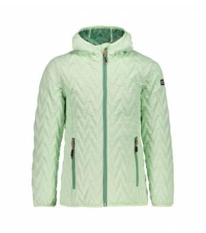 CMP Girl Jacket Fix Hood bunda E135 zelená