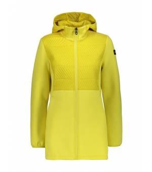 CMP Woman Mid Jacket Fix Hood bunda R329 žltá
