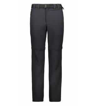 CMP Man Pant Zip Off turistické nohavice čierne