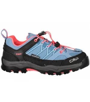 CMP Kids Rigel Low Trekking Shoe WP 89BD Clorophill-Red-Fluo