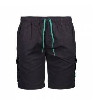 CMP Man Medium Shorts plavky 18UE sivé