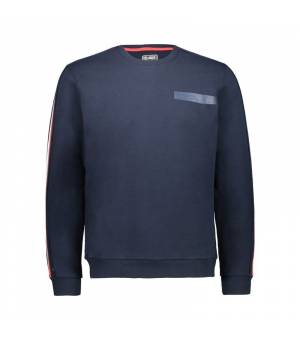 CMP Man Sweat Black Blue mikina