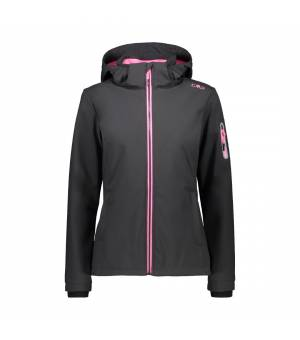CMP Woman Zip Hood Jacket Antracite – Pink Fluo bunda