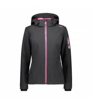 CMP Woman Zip Hood Jacket Antracite – Pink Fluo bunda