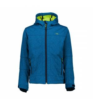 CMP Kid Fix Hood Jacket River Melange – Yellow Fluo bunda