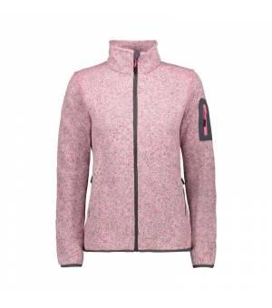 CMP Woman Fix Hood Jacket Pink Fluo Melange - Graffite mikina