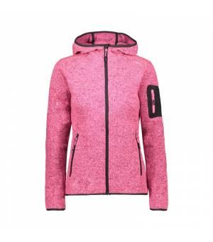 CMP Woman Fix Hood Jacket Pink Fluo Melange – Antracite mikina