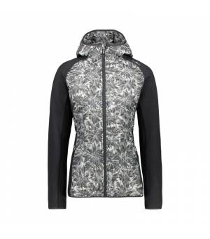 CMP Woman Jacket Fix Hood Antracite - Ice mikina