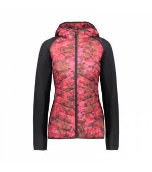 CMP Woman Jacket Fix Hood Magenta-Carminio mikina