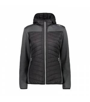 CMP Woman Jacket Fix Hood Nero mikina