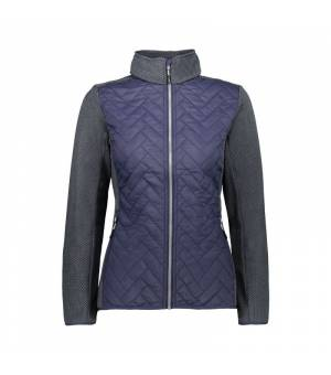 CMP Woman Jacket Black Blue mikina