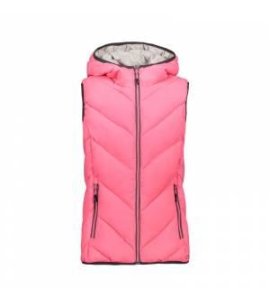 CMP Kid G Vest Fix Hood Pink Fluo vesta